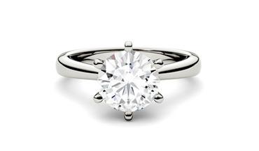 Дорогие помолвочные кольца с одним бриллиантом
