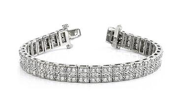 Дорогие золотые широкие браслеты с бриллиантами