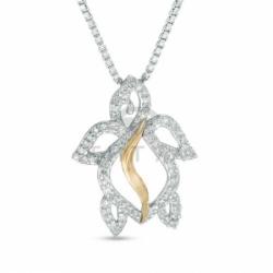 Бриллиантовая черепашка из комбинированного золота