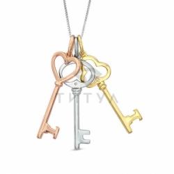 """Подвеска """"Ключи"""" из золота с бриллиантами"""