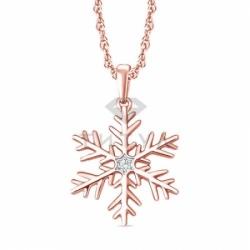 """Подвеска """"Снежинка"""" из золота с бриллиантами"""
