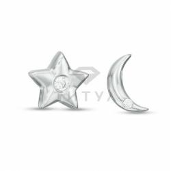 "Серьги ""Звезда и луна"" с бриллиантами"