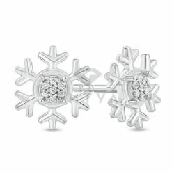 "Серьги ""Снежинки"" с бриллиантами"