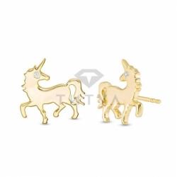 """Серьги-гвоздики из желтого золота """"Единороги"""""""