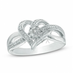 """Кольцо """"Любовь"""" из белого золота с бриллиантами"""