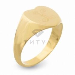 Кольцо из желтого золота без камней