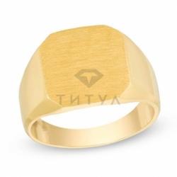 Мужское кольцо из желтого золота без камней