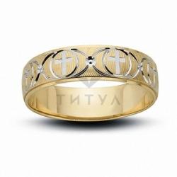 Мужское кольцо из комбинированного золота без камней