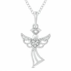 Подвеска золотой ангелок с бриллиантами