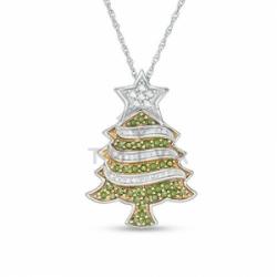 Подвеска Новый год из белого золота с бриллиантом