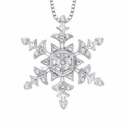 Подвеска в форме снежинки из белого золота с бриллиантами