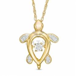 Золотая черепашка с бриллиантами